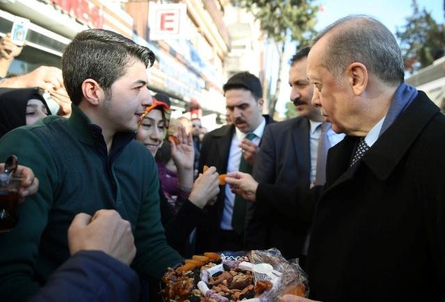 Erdoğan Esnafı Ziyaret Etti