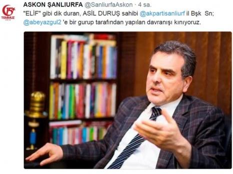 Şanlıurfa Başkan Beyazgül'e Sahip Çıktı