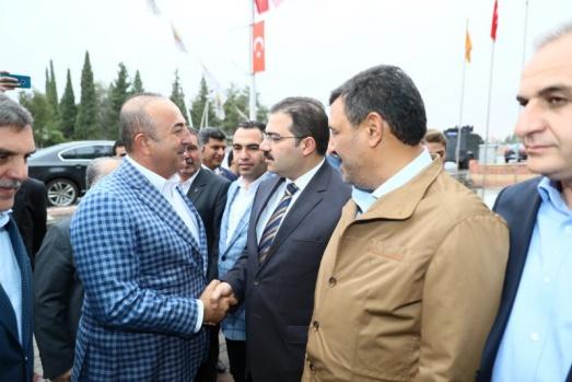 Bakan Çavuşoğlu-Başkan Beyazgül ziyaret