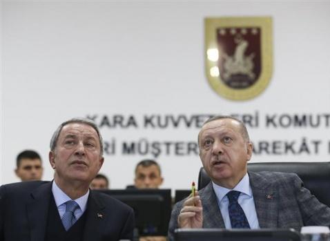 Erdoğan Müşterek Harekat Merkezinde