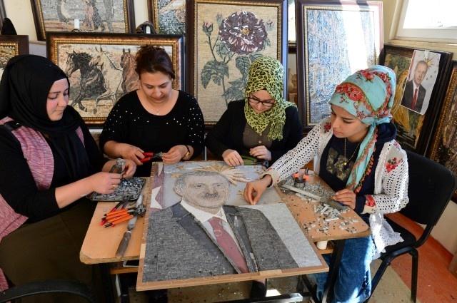 Cumhurbaşkanı Erdoğan Mozaik Portre