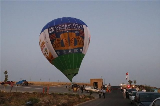 Göbeklitepe'de ilk sıcak hava balonu havalandı