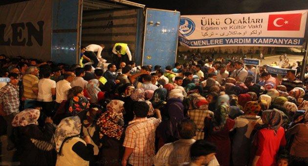 Ülkü Ocakları'ndan Urfa'da Türkmenler'e Ayni Yardım