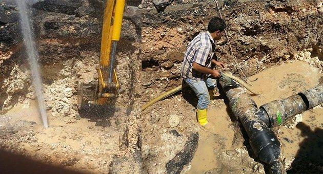 Urfa'da Patlayan Boru Susuz Bıraktı
