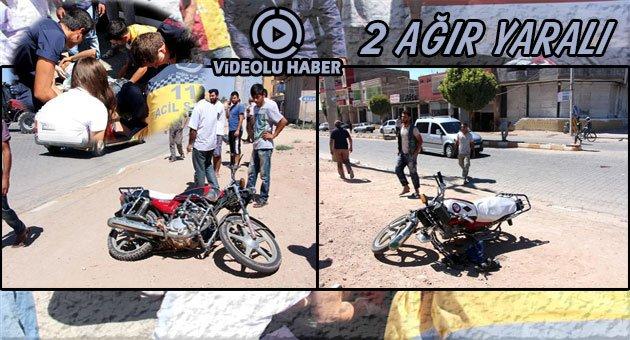 Ceylanpınar'da Motosikletler Kafa Kafaya Çarpıştı