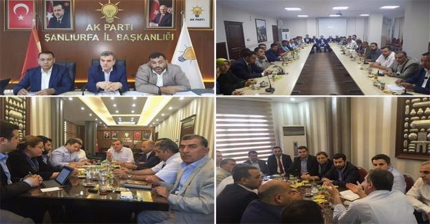 AK Parti Şanlıurfa'da Yoğun Gündem
