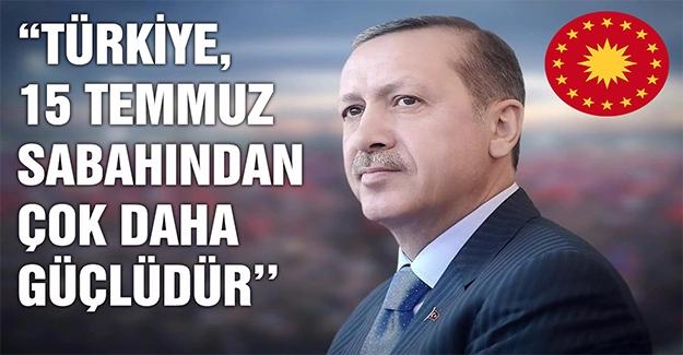 Cumhurbaşkanı Erdoğan Bayramı Kutladı