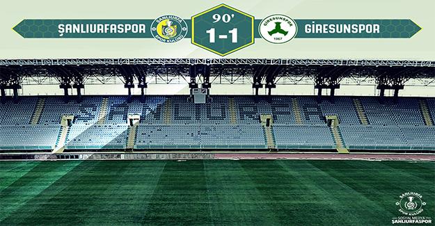 Urfaspor Giresun ile Berabere Kaldı