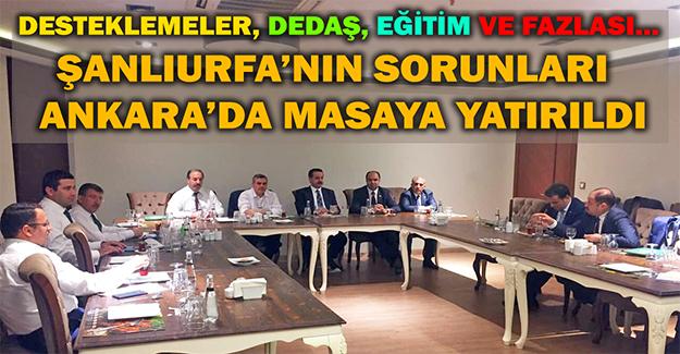Ankara'da Şanlıurfa İçin Önemli Toplantı