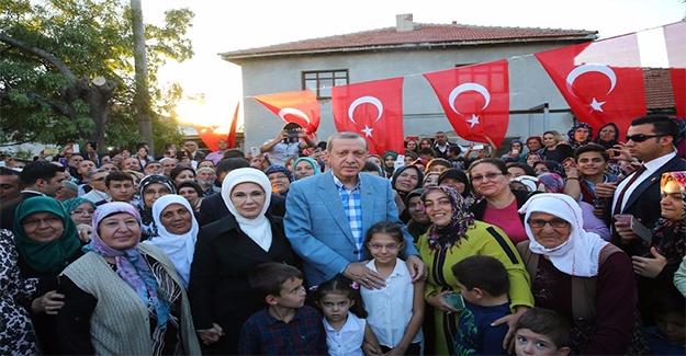 Erdoğan Şehit Ailelerini Ziyaret Etti