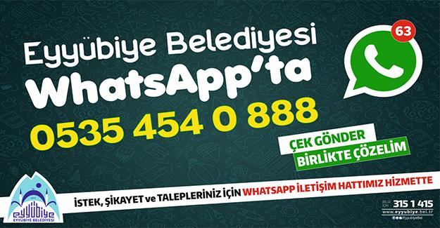 Eyyübiye Belediyesi Whatshapp'ta