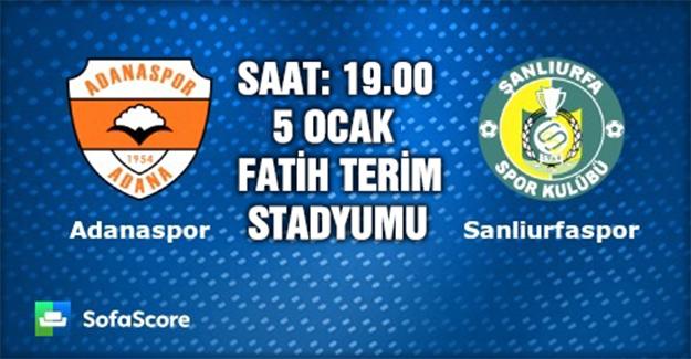 Şanlıurfaspor Adana Deplasmanında
