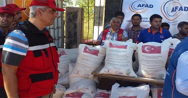 Suriye'deki İhtiyaç Sahiplerine Un Yardımı