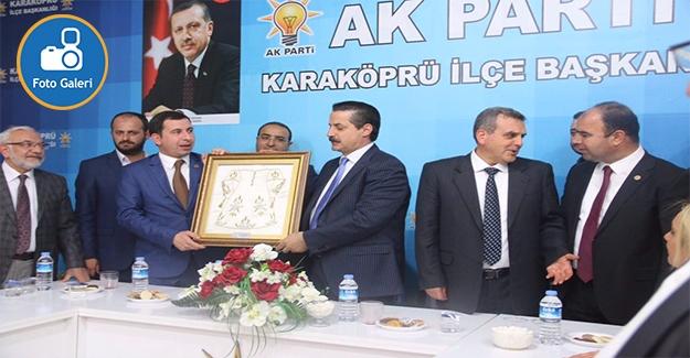 Bakan Çelik Karaköprü AK Parti'yi Ziyaret Etti