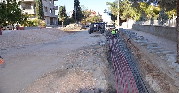 Halfeti'de Elektrik Hatları Yer Altına Alınıyor