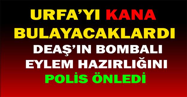 DEAŞ Urfa'da Bombalı Saldırı Yapacaktı