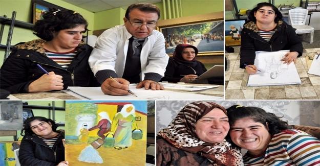 Otizmli Kübra'nın Resim Tutkusu
