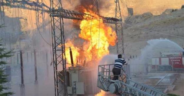 Eyyübiye'de Trafo Yangını
