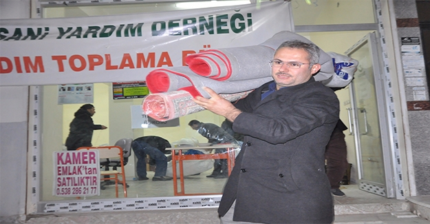Şanlıurfa'dan Halep'e Yardımlar Sürüyor