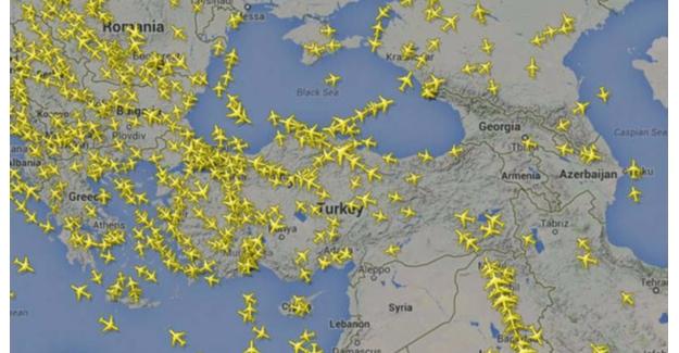Türk Hava Sahasından 17 Saniyede Bir Uçak Geçti