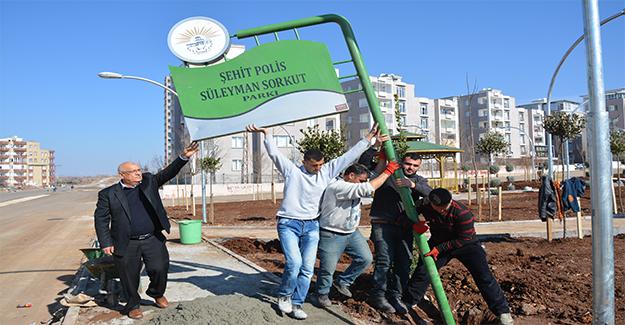 Şehit Polis Sorkut'un Adı Siverek'te Parka Verildi