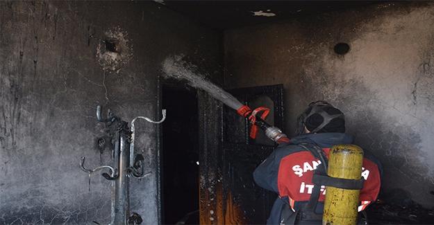 Siverek'te Ev Yangını: 1 Yaralı