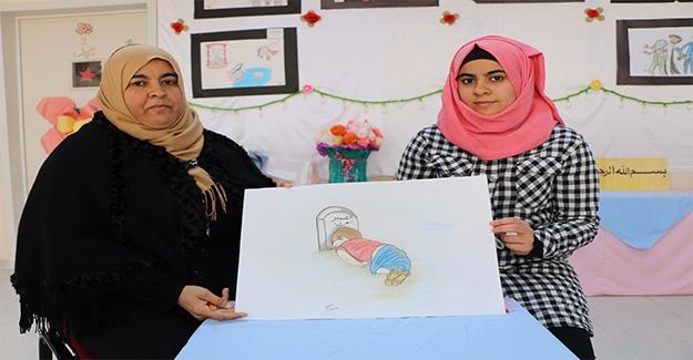 Suriyeli Genç Kızdan Aylan Bebekli Mesaj