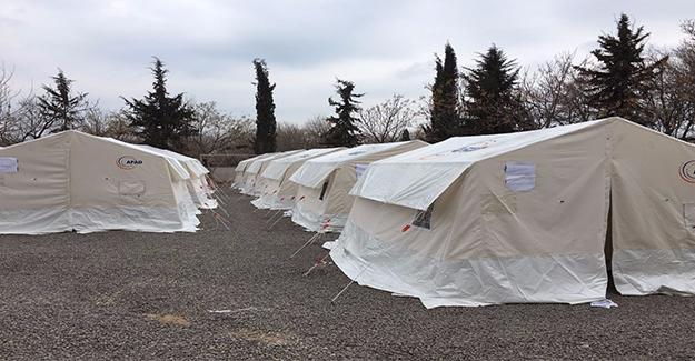 Depremin Ardından Hilvan'da Barınma Merkezi Kuruldu