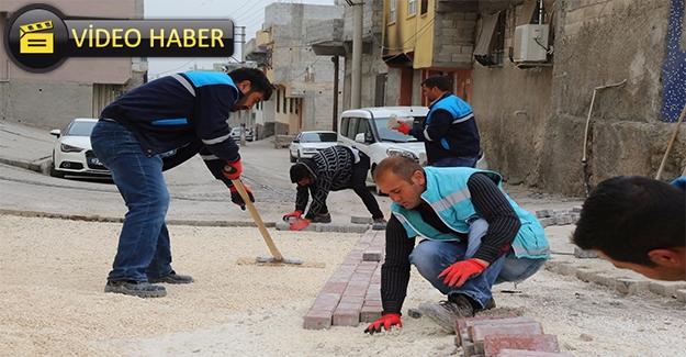 Eyyübiye Belediyesi Merkez ve Kırsalda Yol Yapımını Sürdürüyor