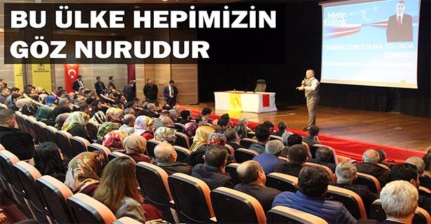 Metin Külünk Diyarbakır'da Konuştu