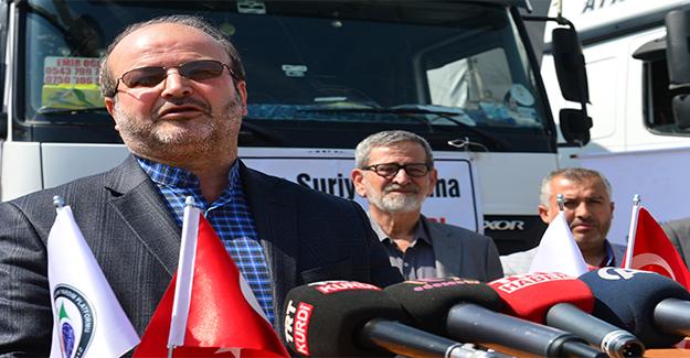 Şanlıurfa'dan Suriyelilere 6 Tır Yardım Malzemesi