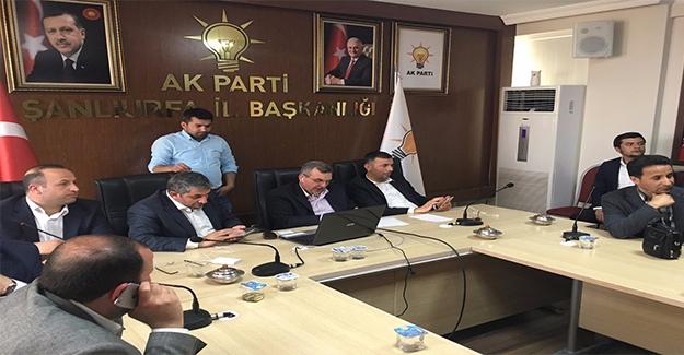 AK Parti Şanlıurfa'da Yoğun Seçim Gündemi