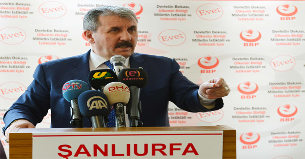 Mustafa Destici'den Suruç açıklaması