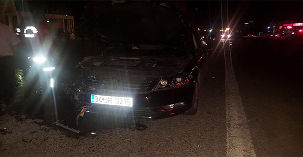 Akçakale'de İki Otomobil Kafa Kafaya Çarpıştı