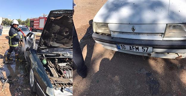 Haliliye'de Otomobil Kundaklandı