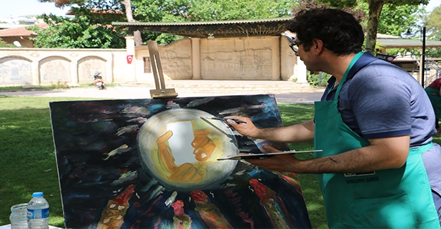 Şanlıurfa'da 15 Temmuz Resim Çalıştayı
