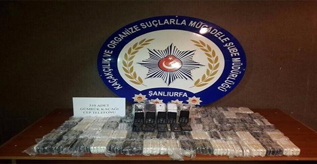 Şanlıurfa'da Yüzlerce Kaçak Cep Telefonu Yakalandı