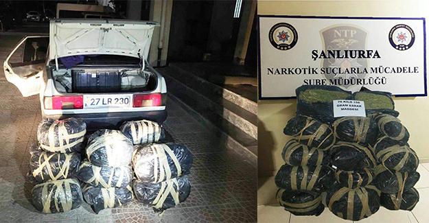 Şanlıurfa'da Uyuşturucu Operasyonu: 76 Kilo Esrar Yakalandı