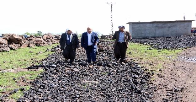 Siverek Kırsalında Stablize Yol Çalışması