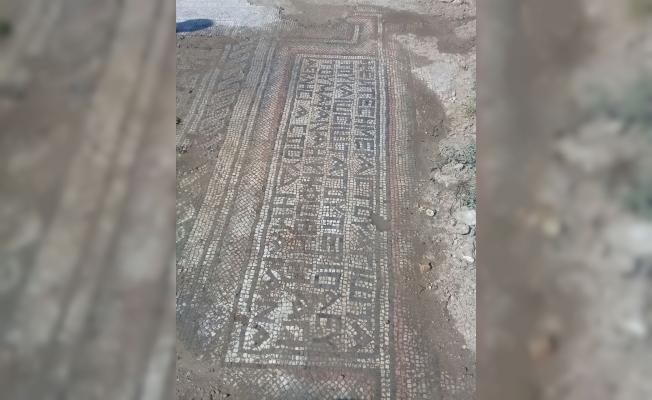 Adıyaman'da bin 500 yıllık mozaik bulundu