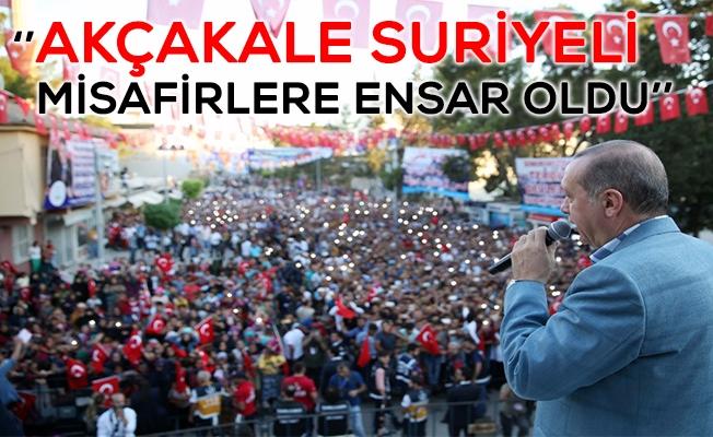 Cumhurbaşkanı Erdoğan Akçakale'de