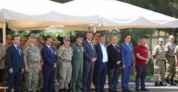 Diyarbakır'da şehit asker için tören