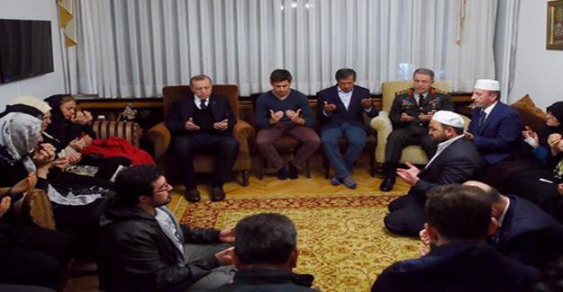 Erdoğan'dan Şehit Aydın'ın Evine Taziye Ziyareti