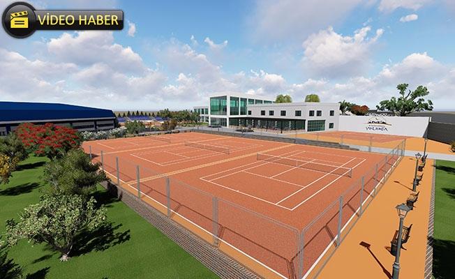 Şanlıurfa'da Tenis Dünyasının İnşaatı Sürüyor