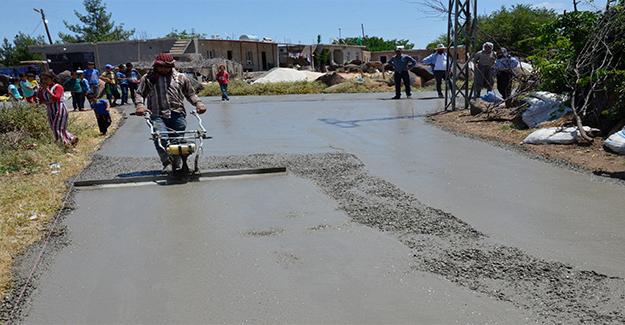 Siverek kırsalında beton yol oranı artıyor