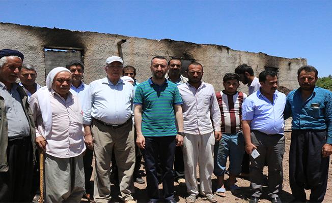 Siverek'te Evi Yanan Aileye Belediye Yardım Etti