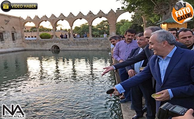 Bakan Fakıbaba ve Bakan Özlü Balıklıgöl'de Dua Ettiler