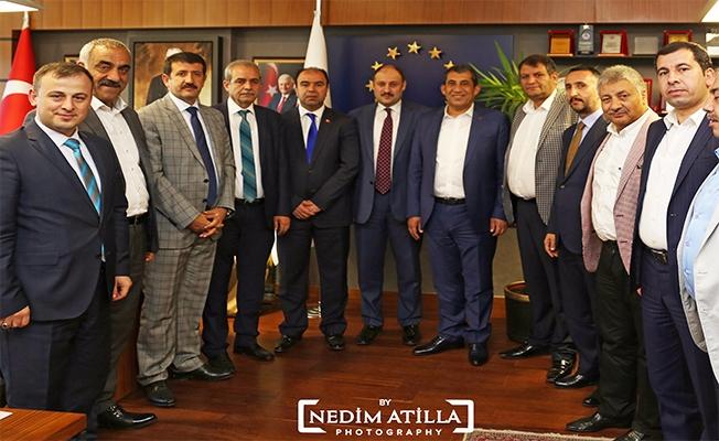 Belediye Başkanları Gülpınar'ı Ziyaret Etti