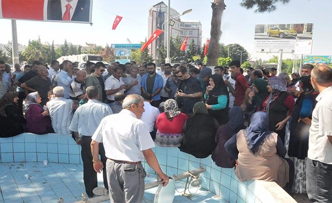 Birecik'te Su Protestosu