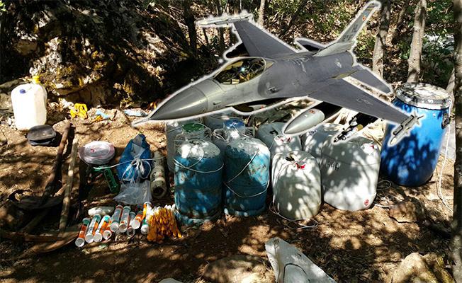 F-16'lar Eylem Hazırlığındaki Teröristleri Bombaladı